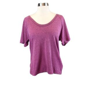 NWT Chaser Short Sleeve Magenta Top Sz Small